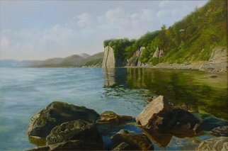 Vasily Zolottsev; The Stones At Kiselyov S Rock, 2011, Original Painting Oil, 90 x 60 cm. Artwork description: 241   The Kiselyov is rock is near to Tuapse on coast of the Black Sea is a symbol of Tuapse town.   ...