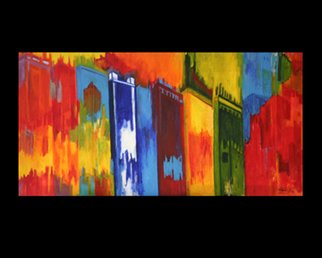 Vanessa Bernal; City View, 2007, Original Painting Acrylic, 36 x 18 inches.