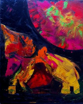 Vanessa Bernal; Dog Planet, 2010, Original Painting Acrylic, 16 x 20 inches. Artwork description: 241   Abstract Expressionism, Expressionism, Abstract, Modern Art,         ...
