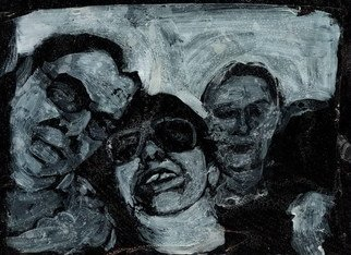 Vesna Mitrovic; Smiling Faces, 2006, Original Printmaking Other, 10 x 15 cm. Artwork description: 241  Smiling faces sometimes pretend to be your friend Smiling faces show no traces . . . Smiling faces sometimes they don't tell the truth, smiling faces Tell lies and I got proof. . UNDISPUTED TRUTH ...