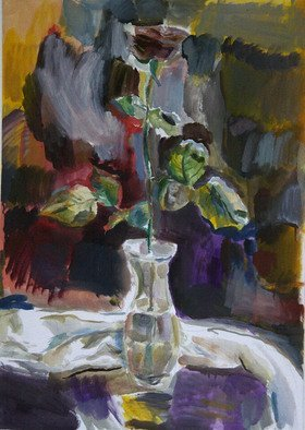 Velemir Pankratov; Rose, 2013, Original Painting Oil, 70 x 50 cm. Artwork description: 241   Rose flower Blume   ...