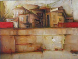 Vesna Komarica; Village 3, 2008, Original Painting Oil, 42 x 36 inches.