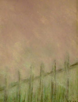 Valerie Leri; Cape Cod Fence On A Foggy Day, 2015, Original Painting Acrylic, 19 x 23 inches. Artwork description: 241 Original painting with beige wood frame. ...