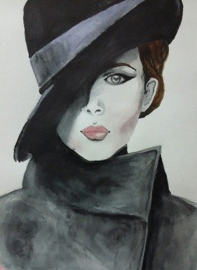 Victoria Zavyalova, Businesswoman, 2016, Original Watercolor, size_width{businesswoman-1479457953.jpg} X 42 cm