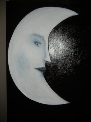 S. Kay; The Moon, 2012, Original Painting Acrylic, 18 x 26 inches.