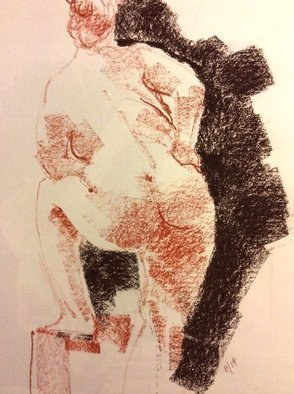 John Tooma; Life Drawing Study, 2014, Original Pastel, 20 x 30 cm. Artwork description: 241    these are some of my latest works on paper from one of the best Life Drawing Groups in Sydney. Glebe Life Drawing Group, Glebe at the