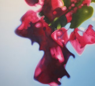 John Tooma; Gitis Bougainvillea, 2005, Original Painting Oil, 170 x 155 cm. Artwork description: 241 This was an accident as I was about to paint it as it is from nature, but my camera captured this part of the bougainvillea tree out of focus.  So I decided to paint this piece as out of focus.  I work on the real plant and ...