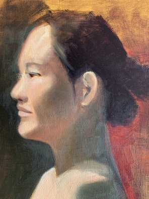 John Tooma; Head Study, 2021, Original Painting Oil, 49.7 x 59.8 mm. Artwork description: 241 Head study in oil painting...
