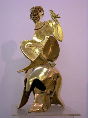 Vadim Kirillov; Adam And Eve , 2001, Original Sculpture Bronze, 90 x 50 cm.