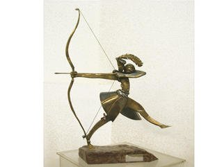 Vadim Kirillov; The Royal Hanter, 2002, Original Sculpture Bronze, 35 x 70 cm. Artwork description: 241 bronz Art...