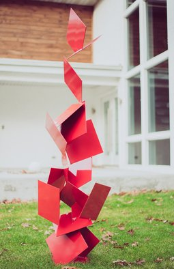 Vadim Kharchenko; sotto, 2017, Original Sculpture Steel, 30 x 70 inches. Artwork description: 241 Free Standing Abstract modern powder coated steel sculpture, named aEURoeSottoaEUR, will complement contemporary, modern, or traditional house Indoor or Outdoor decor. Will fit great as a garden sculpture, lawn sculpture, driveway or front entrance accent, yard dA(c)cor, and will complement any pool area, outside deck, patio, ...
