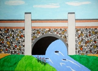 Donald Herrick; Cobbelstone Bridge, 2011, Original Painting Acrylic, 11 x 14 inches. Artwork description: 241               Landscape Acrylic Painting                   ...