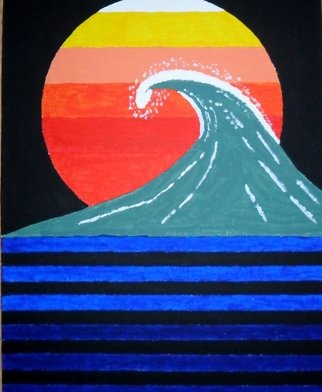 Donald Herrick; Evening Waves, 2011, Original Painting Acrylic, 11 x 14 inches. Artwork description: 241         Abstract Acrylic Painting on canvas. This is a one of a kind original signed by artist.             ...
