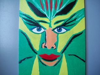 Donald Herrick; Fantasy Queen, 2011, Original Painting Oil, 8 x 10 inches. Artwork description: 241   Abstract oil Painting       ...