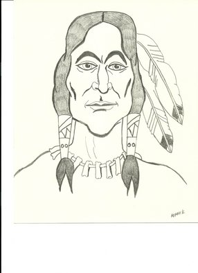 Donald Herrick; Indian Warrior, 2011, Original Drawing Pencil, 8 x 10 inches. Artwork description: 241  Indian Warrior ...