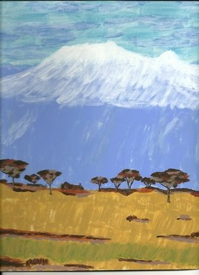 Donald Herrick; Mountain And Sand Kilimanjaro, 2011, Original Painting Acrylic, 10.5 x 12 inches. Artwork description: 241            Landscape Acrylic Painting                ...