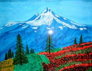 Donald Herrick; Mt Baker, 2011, Original Painting Acrylic, 11 x 14 inches. Artwork description: 241             Landscape Acrylic Painting                 ...