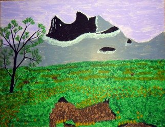 Donald Herrick; Purple Skies, 2011, Original Painting Acrylic, 11 x 14 inches. Artwork description: 241                Landscape Acrylic Painting                    ...