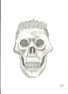 Donald Herrick; Skull Of Ceasar, 2011, Original Drawing Pencil, 9 x 10.5 inches. Artwork description: 241   Abstract pencil drawing     ...