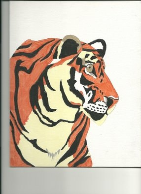 Donald Herrick; Tiger, 2011, Original Painting Acrylic, 8 x 10 inches. Artwork description: 241   animal wildlife painting acrylic    ...