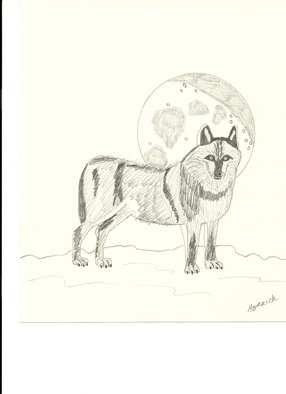 Donald Herrick; Wolf, 2011, Original Drawing Pencil, 8 x 10 inches. Artwork description: 241  Wolf  ...