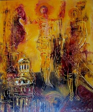Vladan Micic; The Knights, 2013, Original Painting Oil, 60 x 65 cm.