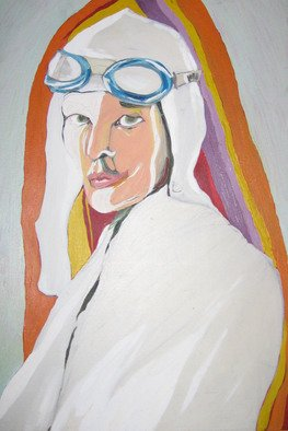 Vladana Vitorovic; Emilia Erhart, 2004, Original Painting Oil, 50 x 70 cm. Artwork description: 241  One form my woman pilots series of drawings and paintings ...