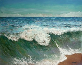 Vladimir Volosov; Atlantic Ocean, 2019, Original Painting Oil, 24 x 30 inches. Artwork description: 241 This is an original unique textured oil painting on  Nanvas on a wooden frame.  Palette knife. Original Artist Style aEUR