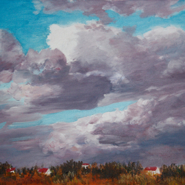Vladimir Volosov, , , Original Painting Oil, size_width{before_thunderstorm-1512050809.jpg} X 11 inches