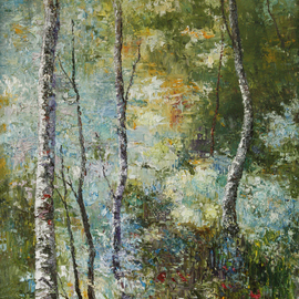 Vladimir Volosov, , , Original Painting Oil, size_width{birches_forest-1510678459.jpg} X 24 inches