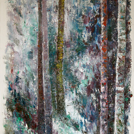 Vladimir Volosov, , , Original Painting Oil, size_width{blue_forest-1555867177.jpg} X 15 inches