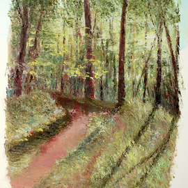 Vladimir Volosov, , , Original Painting Oil, size_width{forest_path-1555445355.jpg} X 24 inches