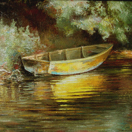 Vladimir Volosov, , , Original Painting Oil, size_width{old_boat-1510769654.jpg} X 20 inches