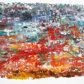 Vladimir Volosov, , , Original Painting Oil, size_width{red_and_blue_composition-1514314905.jpg} X 24 inches
