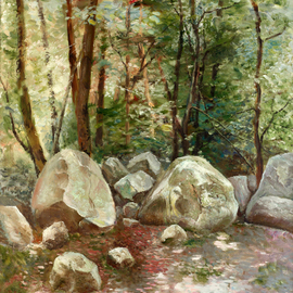 Vladimir Volosov, , , Original Painting Oil, size_width{sunny_spots-1510844106.jpg} X 32 inches