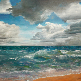 Vladimir Volosov, , 2014, Original Painting Oil, size_width{the_fickle_ocean-1493507155.jpg} X 61 cm