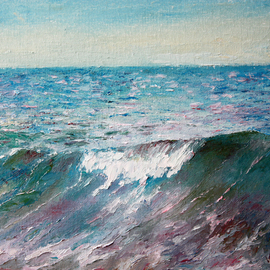 Vladimir Volosov, , , Original Painting Oil, size_width{the_wave-1554331713.jpg} X 11 inches