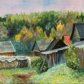 Vladimir Volosov, , , Original Painting Oil, size_width{there_where_time_stopped-1491448270.jpg} X 45 cm