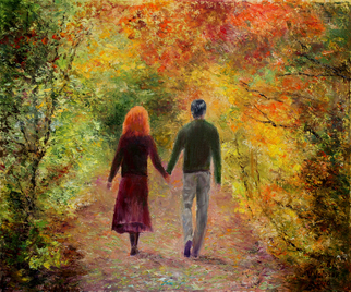Vladimir Volosov, walk together, 2016, Original Painting Oil,    cm