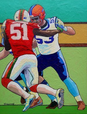 Vlado Vesselinov; Super Bowl, 2019, Original Painting Oil, 45 x 60 cm. Artwork description: 241 The artwork was inspired by Super Bowl.  These sports battles are filled with so much emotion, character clash and courage.  Delight for the eyes, unique emotion for all senses.The work is painted using original technology and this makes it uniquePainted with high quality French oil paints ...