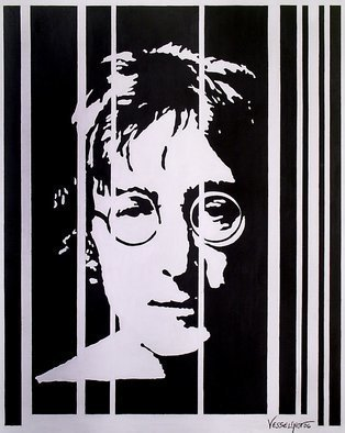 Vlado Vesselinov; John Lennon, 2006, Original Painting Acrylic, 65 x 81 cm. Artwork description: 241 The work was inspired by the great and only John Lennon.  For me, he is the inspirer and teacher, musician, philosopher - artist.  John is all that humanity is capable of in the good sense of the word.  The work is painted with high quality Italian acrylic paints ...