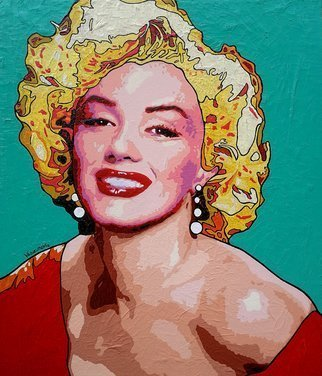 Vlado Vesselinov; Marilyn Monroe, 2019, Original Painting Oil, 60 x 70 cm. Artwork description: 241 The work is inspired by the eternal sex symbol and movie star Marilyn Monroe.  An absolute icon and inspirer of an era in pop artaEUR|The work was realized with author s technique with high quality French oil paints and high quality Italian acrylic paints.  The work ...