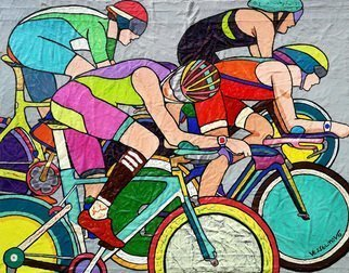 Vlado Vesselinov; Tour De France, 2019, Original Painting Oil, 50 x 40 cm. Artwork description: 241 The work is inspired by the great cycling race - Tour of France.  All these moments of supreme effort and power, super concentration, and belief in victory.  The beauty of the movements of the cyclists is pure aesthetic joy for the viewer.The work is painted using original ...
