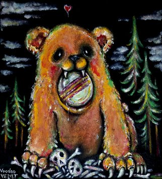 Voodoo Velvet; Bears Only Love You When ..., 2015, Original Painting Acrylic, 20 x 22 inches. Artwork description: 241      Acrylic painted on black velvet, Velvet painting. Come see the bizarre, the beautiful, the surreal!One of a kind original velvet paintings, created for your enjoyment.  For more information visit: www. voodoovelvet. com           ...