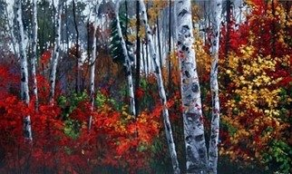 Jennifer Vranes; Jewels of Autumn, 2008, Original Painting Acrylic, 60 x 36 inches.