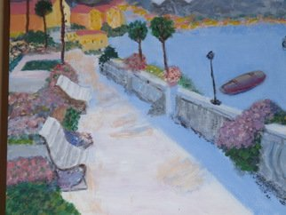 Vincent Sferrino; Bellagio, 2013, Original Painting Acrylic, 20 x 16 inches. Artwork description: 241  On the shore of Lake Como. Acrylic on Canvas   ...