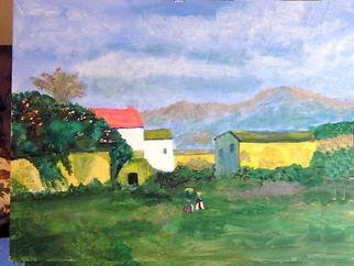 Vincent Sferrino; Country Vista, 2011, Original Painting Acrylic, 20 x 16 inches.