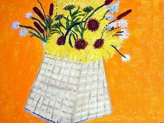 Vincent Sferrino; Flower Basket, 2013, Original Painting Acrylic, 20 x 16 inches.
