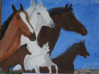 Vincent Sferrino; Stallions, 2013, Original Painting Acrylic, 20 x 16 inches.