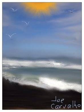 Jose Carvalho; SPedro, 2014, Original Digital Drawing, 8.5 x 11 inches. Artwork description: 241  Oceoan and Sun   ...